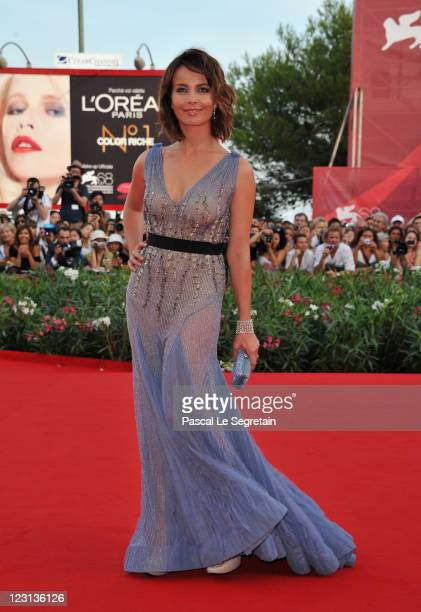 Venice Film Festival host Violante Placido attends The Ides Of March premiere during the 68th Venice Film Festival at the Palazzo del Cinema on...