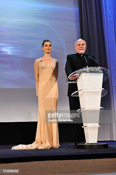 Venice Film Festival host Vittoria Puccini and Director of the Venice Film Festival Marco Muller attend the Closing Ceremony during the 68th Venice...