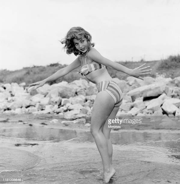 Venice Film Festival Italy Monday 3rd September 1956 pictured is Abbe Lane American singer and actress