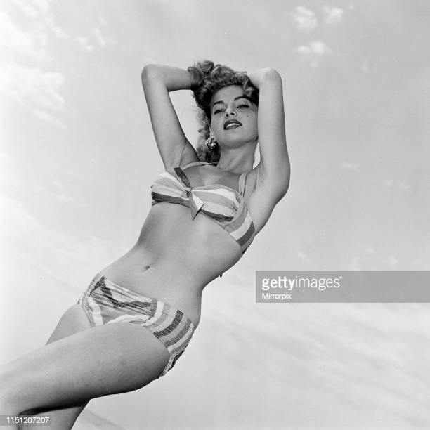 Venice Film Festival, Italy, Monday 3rd September 1956; pictured is Abbe Lane, American singer and actress.