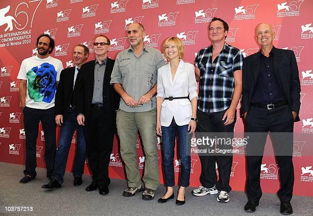 Venice Film Festival Jury Members director Luca Guadagnino director Arnaud Desplechin composer Danny Elfman director Guillermo Arriaga actress...