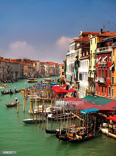 venice from rialto bridge - vaporetto stock pictures, royalty-free photos & images