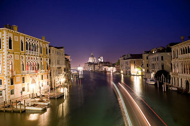 Venice Grand Canal At Night, Venezia, Italy Wall Art