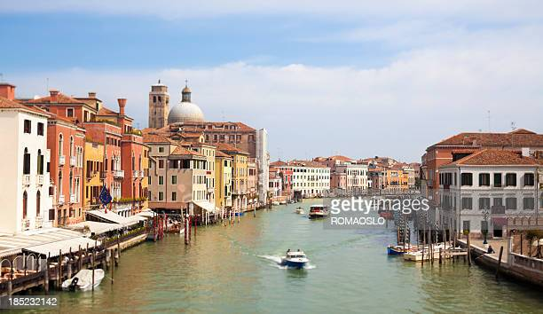 venice grand canal scene, veneto italy - vaporetto stock pictures, royalty-free photos & images