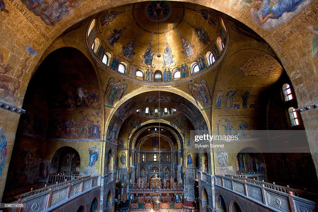Venice Interior View Of Basilica Of San Marco Stock Photo   Getty Images