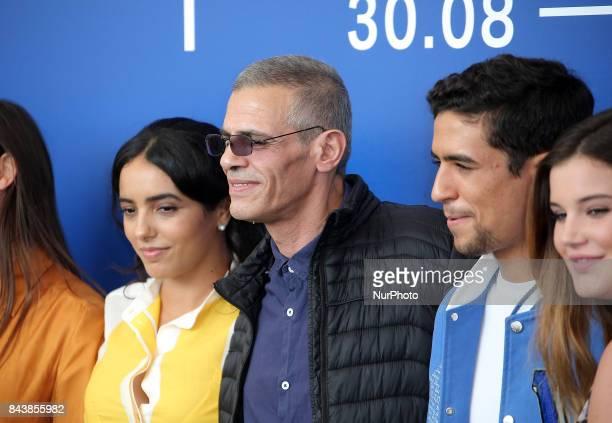 Hafsia Herzi Abdellatif Kechiche Shain Boumedine and Alexia Chardard attend the 'Mektoub My Love Canto Uno' photocall during the 74th Venice Film...