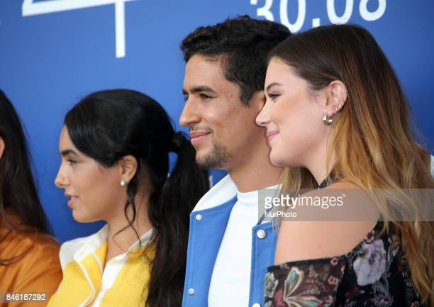 Hafsia Herzi Shain Boumedine and Alexia Chardard attend the 'Mektoub My Love Canto Uno' photocall during the 74th Venice Film Festival