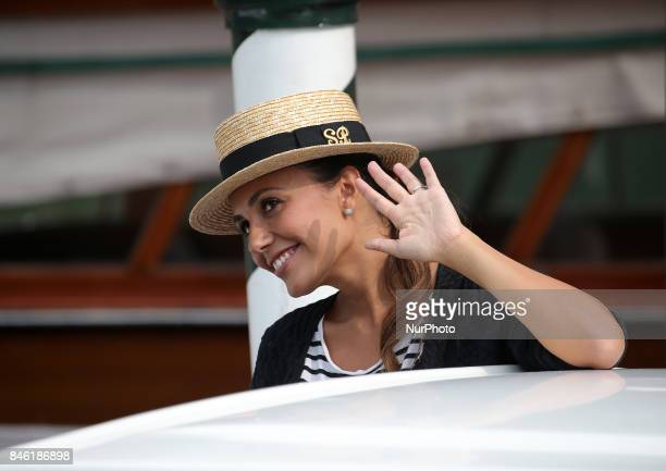 Venice Italy 07 September 2017 Serena Ross leave from the Hotel Excelsior