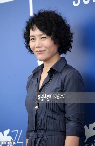 Venice Italy 07 September 2017 Vivian Qu attend the photocall of the movie 'Jian Nian Hua' presented in competition at the 74th Venice Film Festival