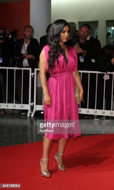 Hafsia Herzi walks the red carpet ahead of the 'Mektoub My Love Canto Uno' screening during the 74th Venice Film Festival