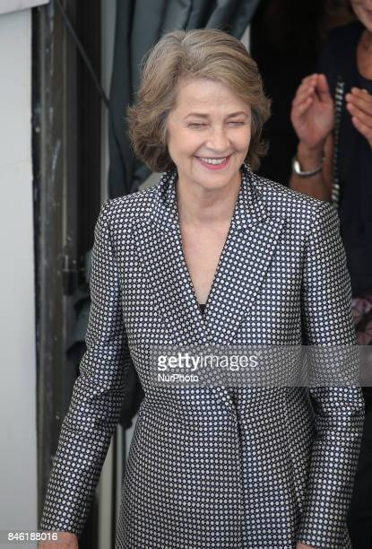 Venice Italy 08 September 2017 Charlotte Rampling attend the photocall of the movie 'Hannah' presented in competition at the 74th Venice Film Festival