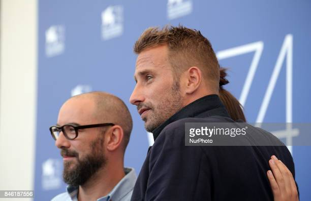 Venice Italy 08 September 2017 Michael R Roskman Adele Exarchopoulos and Matthias Schoenaerts attends the 'Racer And The Jailbird ' photocall during...