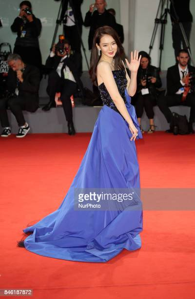 Venice Italy 08 September 2017 Qi Wei walk the red carpet ahead of the 'Manhunt ' screening during the 74th Venice Film Festival