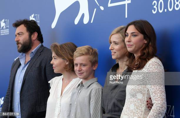 Venice Italy 08 September 2017Denis Menochet Sophie Pincemaille Thomas Gioria Lea Drucker and Mathilde Auneveux attends the photocall of the movie...
