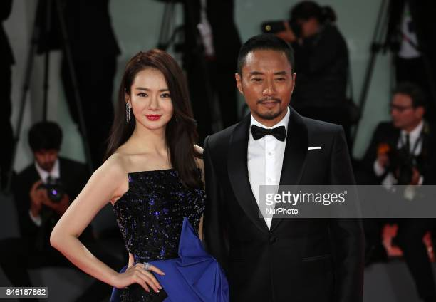 Venice Italy 08 September 2017Zhang Hanyu and Qi Wei walk the red carpet ahead of the 'Manhunt ' screening during the 74th Venice Film Festival