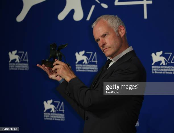 Venice Italy 09 September 2017 Martin McDonagh receives the Best Screenplay Award for 'Three Billboards Outside Ebbing Missouri' during the Award...