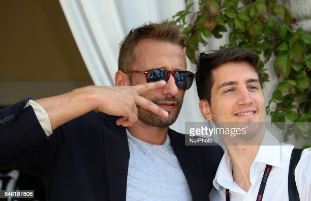 Venice Italy 09 September 2017 Matthias Schoenaerts leave from Hotel Excelsior