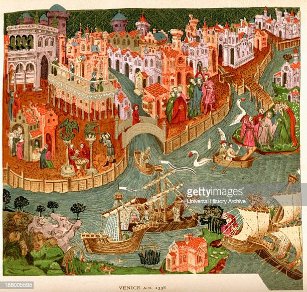 Venice Italy 1338 After A Manuscript In The Bodleian Library From The Book Short History Of The English People By JR Green Published London 1893