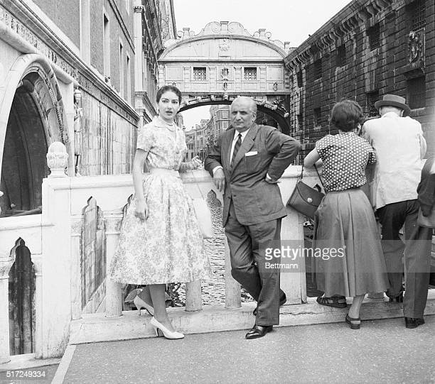A View From The Bridge Opera singer Maria Meneghini Callas whose fiery temperament has made many headlines visits the Bridge of Sighs in Venice with...