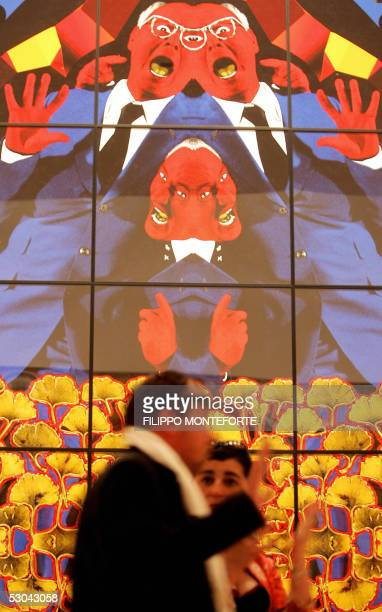 An opera by British artists Gilbert and George exposed inside Great Bitain's Pavilion at the 51st International Art Exhibition La Biennale di Venezia...