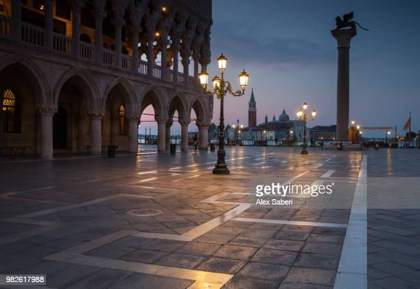 Long exposure at dawn of the San Marco square, with the church of San Giorgio Maggiore in the back.