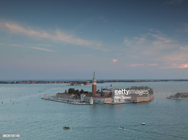 The church of San Giorgio Maggiore at sunset.