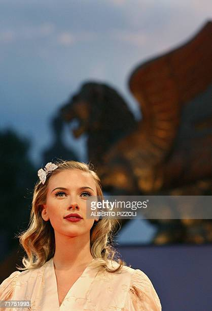 """Actress Scarlett Johansson arrives at the 63rd Venice International Film Festival's gala opening, 30 August 2006, at the Lido in Venice. """"The Black..."""
