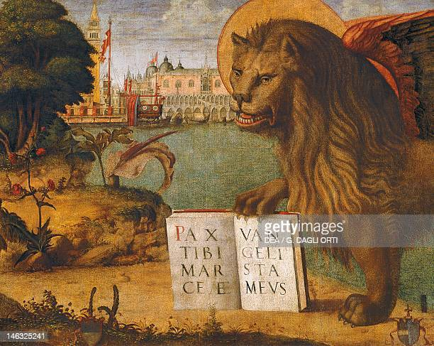 Venice Palazzo Ducale The Lion of St Mark by Vittore Carpaccio