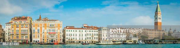 Venice panoramic view across Grand Canal Campanile St Marks Square