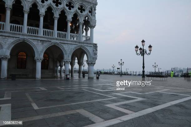 Venice San Marco square city center in the morning