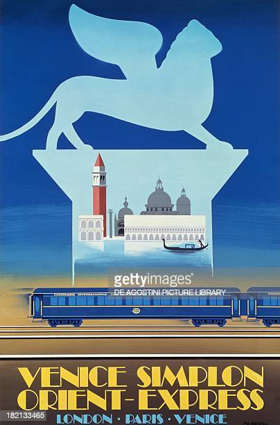 Venice Simplon Orient Express advertising poster by Pierre FixMasseau 20th century