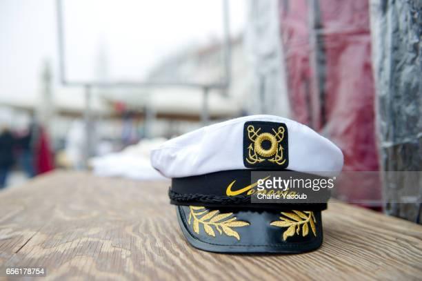 venice souvenir hat - sailor hat stock pictures, royalty-free photos & images