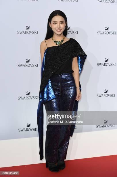 Venice Tan attends Swarovski Crystal Wonderland Party on September 20 2017 in Milan Italy