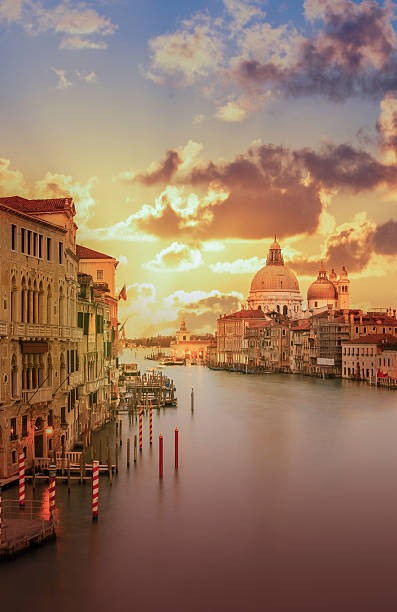 Venice. The Grand Canal At Sunset Wall Art