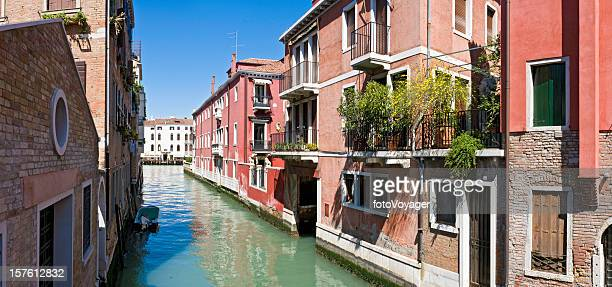 venice vibrant villas tranquil blue canals grand palazzo panorama italy - local landmark stock pictures, royalty-free photos & images