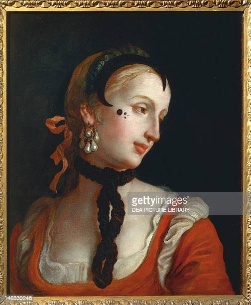 Venice Woman with a beauty spot by Pietro Longhi