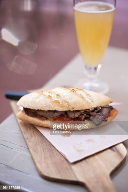 venison meat sandwich - carne de cervo - fotografias e filmes do acervo