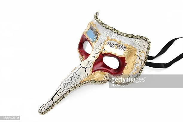 Venitian con traje de máscara de largo alcance