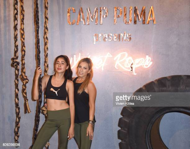 VenniElias Loima and Ale Sanchez attend PUMA Hosts CAMP PUMA To Launch Their Newest Women's Collection Velvet Rope at Goya Studios on August 3 2017...