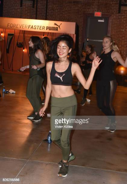 VenniElias Loima attends PUMA Hosts CAMP PUMA To Launch Their Newest Women's Collection Velvet Rope at Goya Studios on August 3 2017 in Los Angeles...