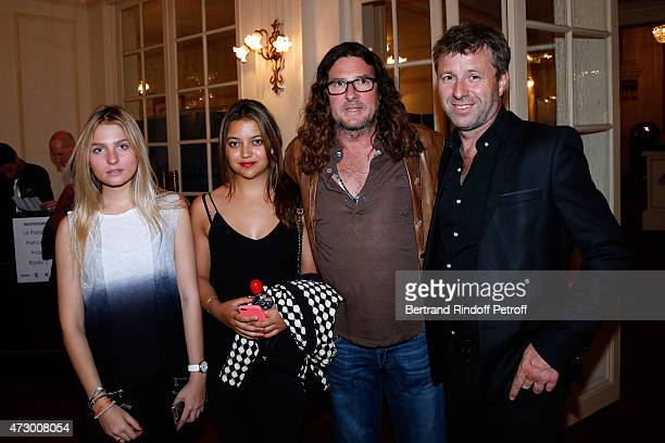 Ventes Privees JacquesAntoine Granjon his daughter Audrey his goddaughter Noemie Seguy and President of the Theatre de Paris Richard Caillat attend...