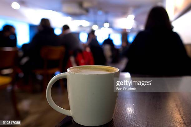 A venti sized caramel latte pictured in a Starbucks on February 17 2016 in London England Today Action on Sugar announced the results of tests on 131...