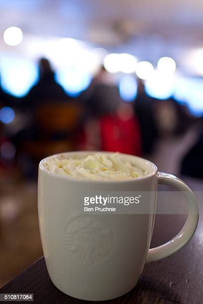 A venti sized white chocolate mocha with whipped cream pictured in a Starbucks on February 17 2016 in London England Today Action on Sugar announced...
