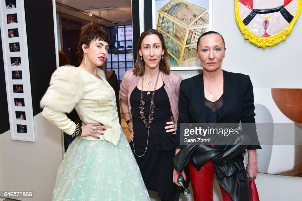 Ventiko Coco Dolle and Ange attend Spring Break Art Fair 2017 Vernissage at 4 Times Square on February 28 2017 in New York City