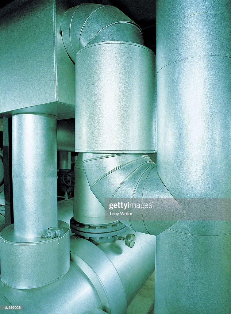 Ventilation pipes : Stock Photo