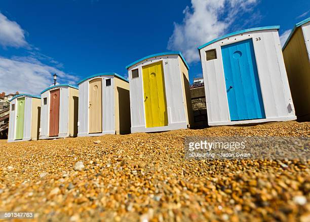 ventnor beach hut glory days #6 - isle of wight stock photos and pictures