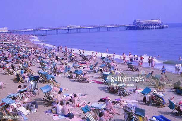 Ventnor, Isle of Wight, Hampshire, August 1962. Seaside resort established in the Victorian era on south coast of the Isle of Wight. A sheltered...