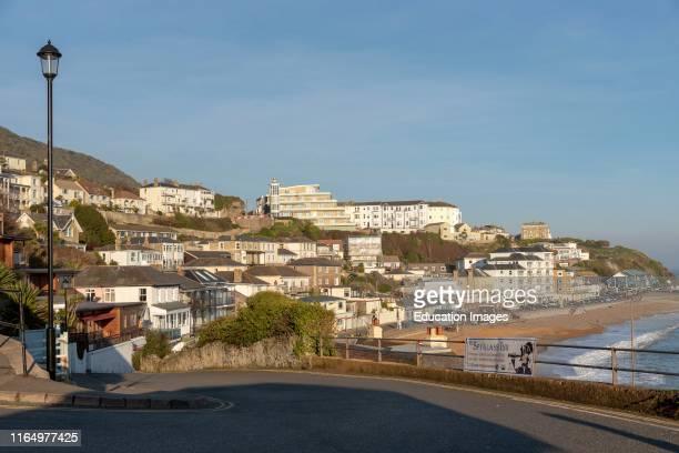 Ventnor, Isle of Wight, UK, This popular seaside resort seen in winter sunshine.