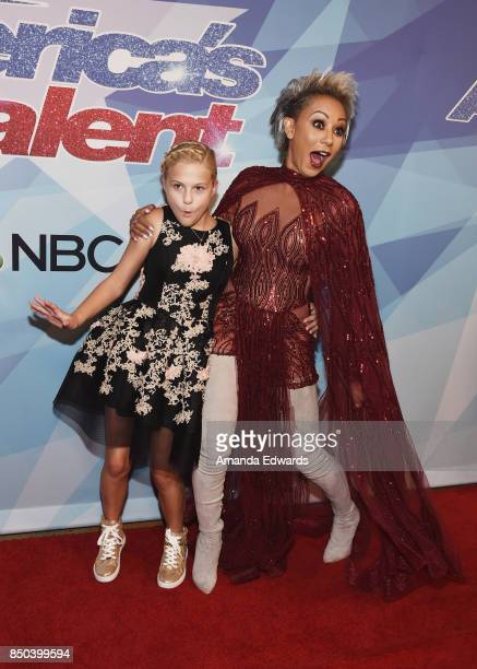Ventriloquist Darci Lynne and singer Mel B attend NBC's 'America's Got Talent' Season 12 Finale at the Dolby Theatre on September 20 2017 in...