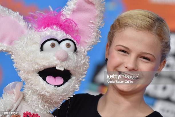 Ventriloquist Darci Lynne Farmer attends Nickelodeon's 2018 Kids' Choice Awards at The Forum on March 24 2018 in Inglewood California